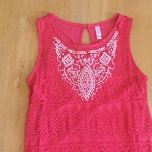 Coral Lace Xhiliration Dress